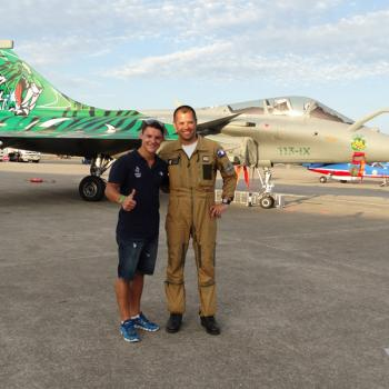 Benjamin Garavel and the Pilot of Rafale