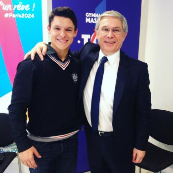 With the President of the French Federation of Gymnastics - James Blateau